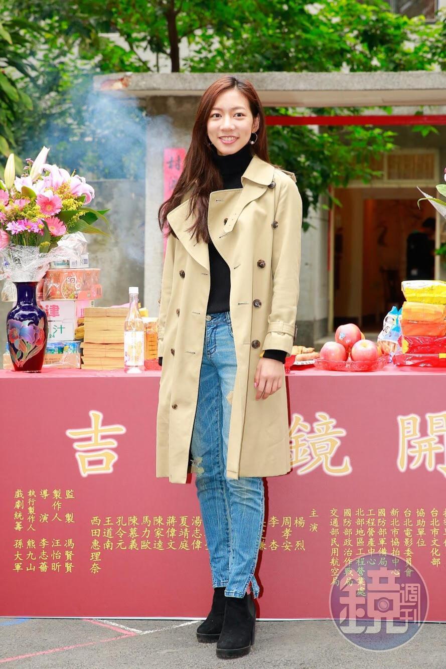 陳妤最近拍戲與記者的角色很有緣。