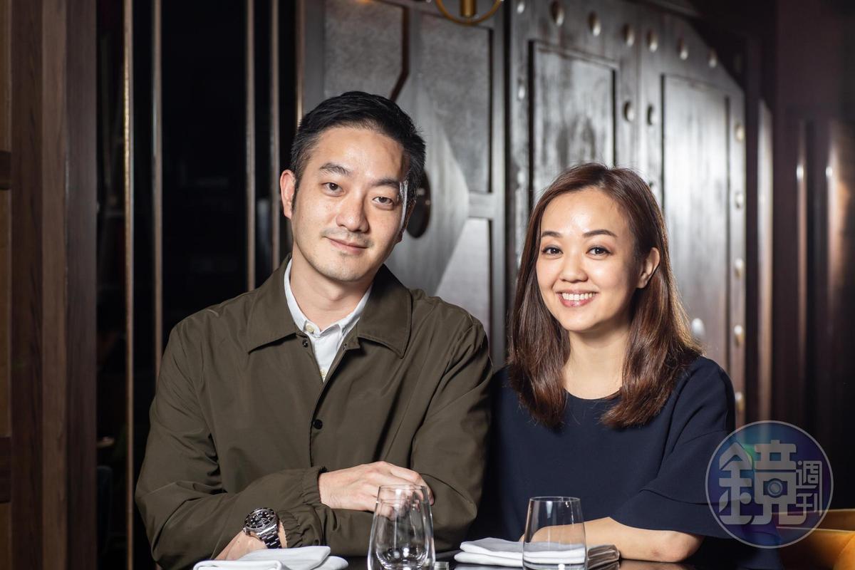 「犇」鐵板燒董事長楊欣(右)與夫婿顧奇明(左)希望能藉由與廚魔的合作創造鐵板燒新高度。