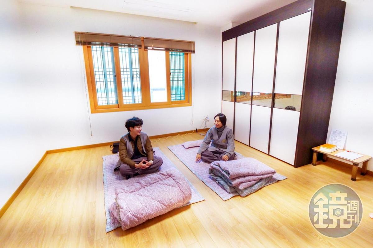 寺廟內旅舍皆為4人房型。