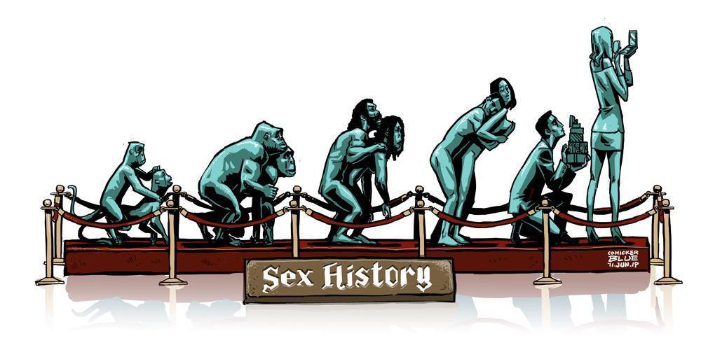 「做愛進化史」諷刺當今的社會現象。(圖:藍聖傑提供)
