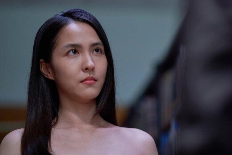魏蔓在《愛情白皮書》獻出最大尺度,只穿Nu Bra就上陣。(東森提供)