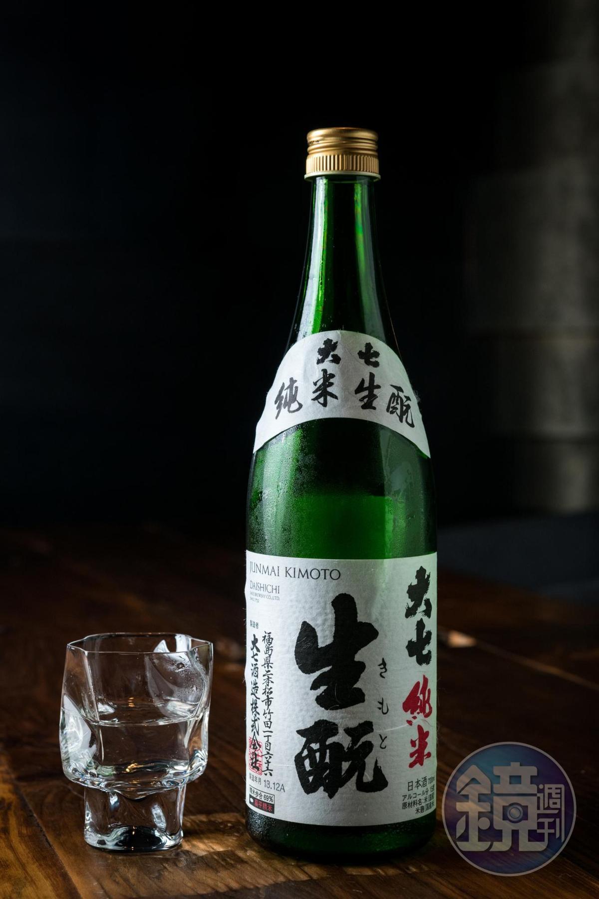 「大七生酛」醇厚有花香,適合搭配油脂高的菜色。(餐酒搭配1,750元)