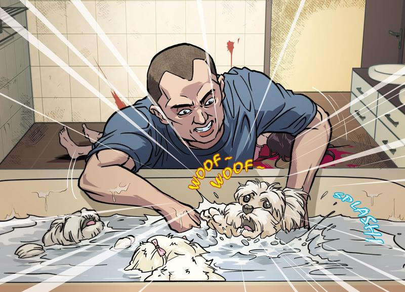 當時3隻小狗拚命狂吠,李明哲乾脆將小狗按進浴缸溺斃。