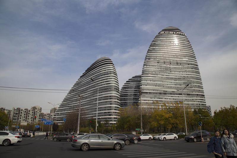 中國知名商辦大樓「SOHO望京」每年租金高達6600萬美元(約新台幣20.3億元)。(東方IC)