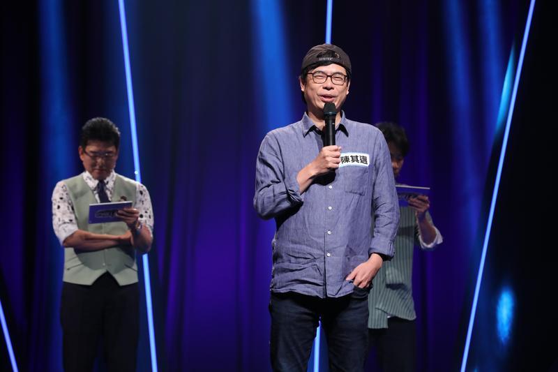 陳其邁上益智節目,不忘虧一下韓國瑜。(台視17Q提供)