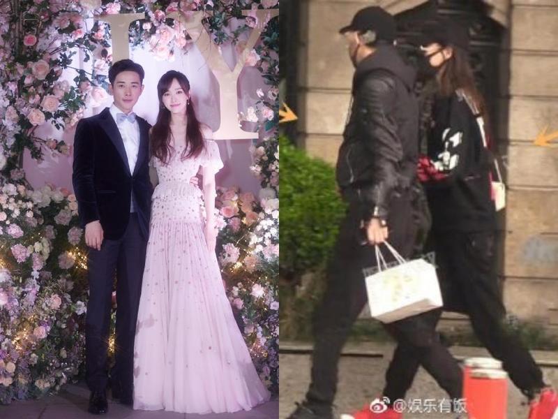 唐嫣和羅晉新婚半年,今(15日)傳出夫妻疑似上醫院看婦產科。(合成圖片,右圖翻攝自娛樂有飯微博)