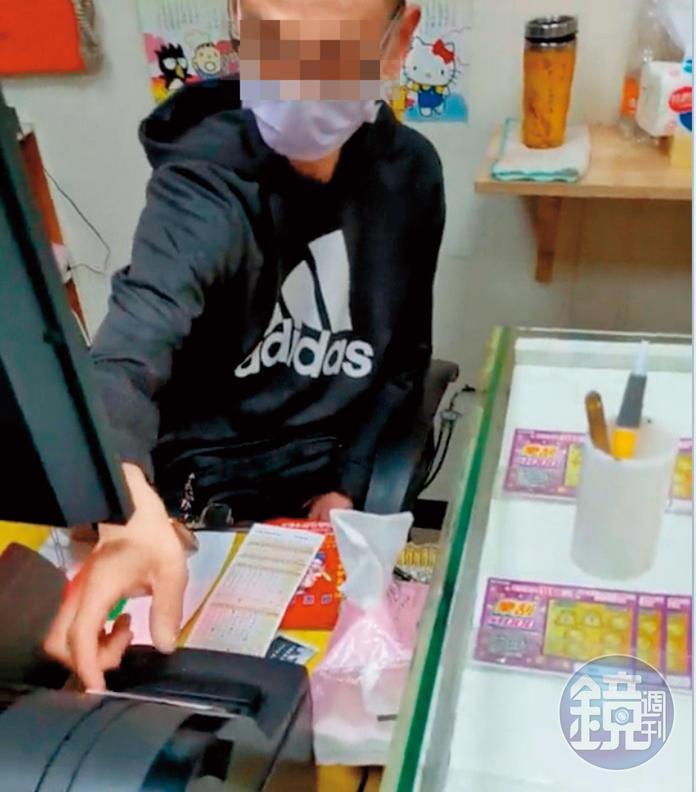 販毒的殘障人士年約40歲,長期在彩券行顧店。