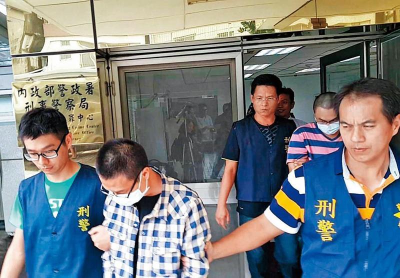 檢警前年8月逮捕跨國運毒的3名嫌犯。(警方提供)