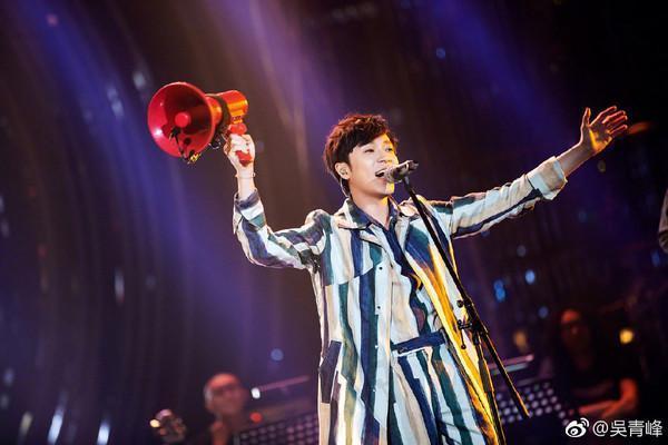 吳青峰參加陸綜《歌手2019》表現不俗。(翻攝吳青峰微博)