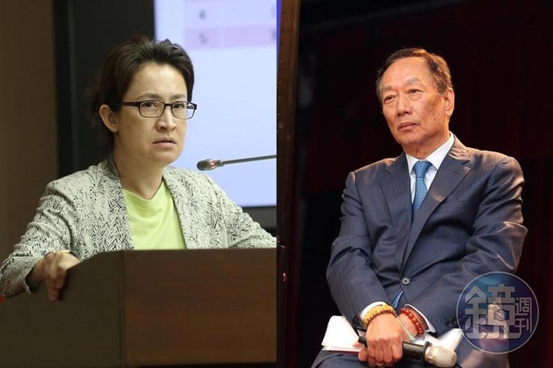 民進黨立委蕭美琴今(16日)出席印太安全對話會議,回答鴻海董事長郭台銘問題時,被郭台銘認為沒看著他回答問題,而對蕭美琴發飆。