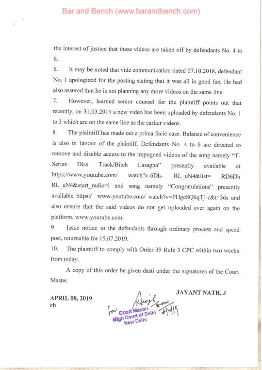 印度高等法院判決。