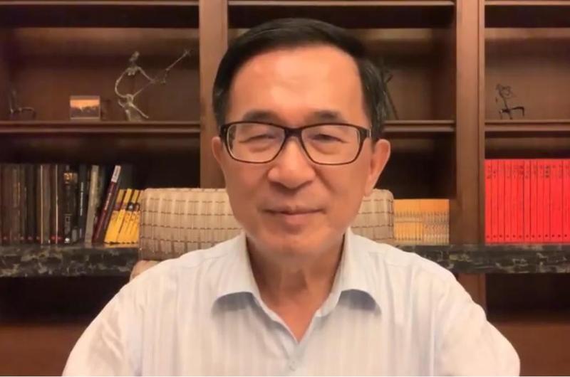 前總統陳水扁回擊韓國瑜日前的發言。(翻攝自YonGe Chen臉書)