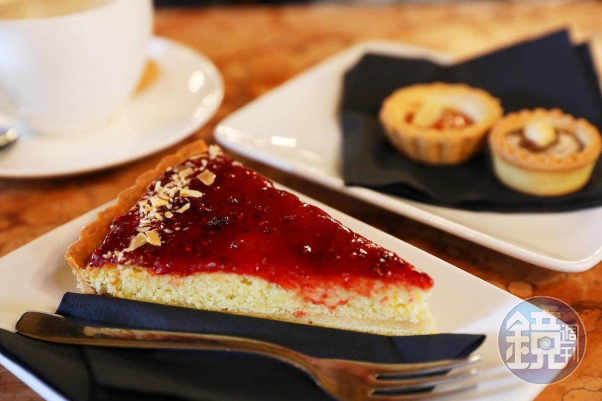 可口酥脆的「蔓越莓派」,很適合搭配Espresso。(3.5歐元/片,約NT$124)