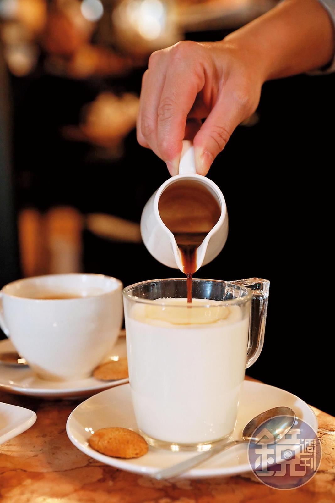 抗拒咖啡因又想試試味道的人,可以點杯「冰拿鐵」。(2.3歐元/杯,約NT$82)