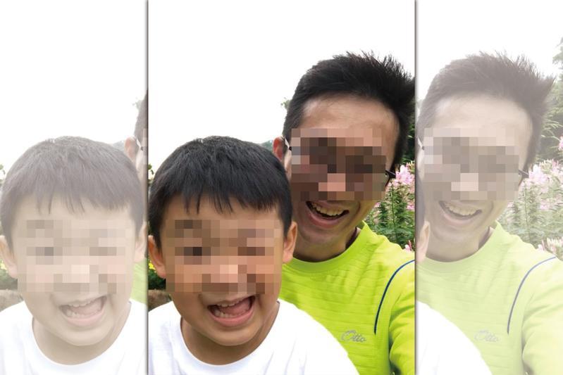 目前行蹤下落不明的吳父,警方調閱監視器後發現他步行離開家中的身影,目前正全力追查到案。(翻攝臉書)