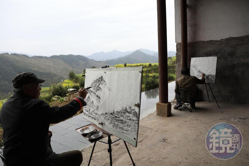 「查平坦」向來有「天上人家」的美名,美景吸引許多國畫家來寫生。