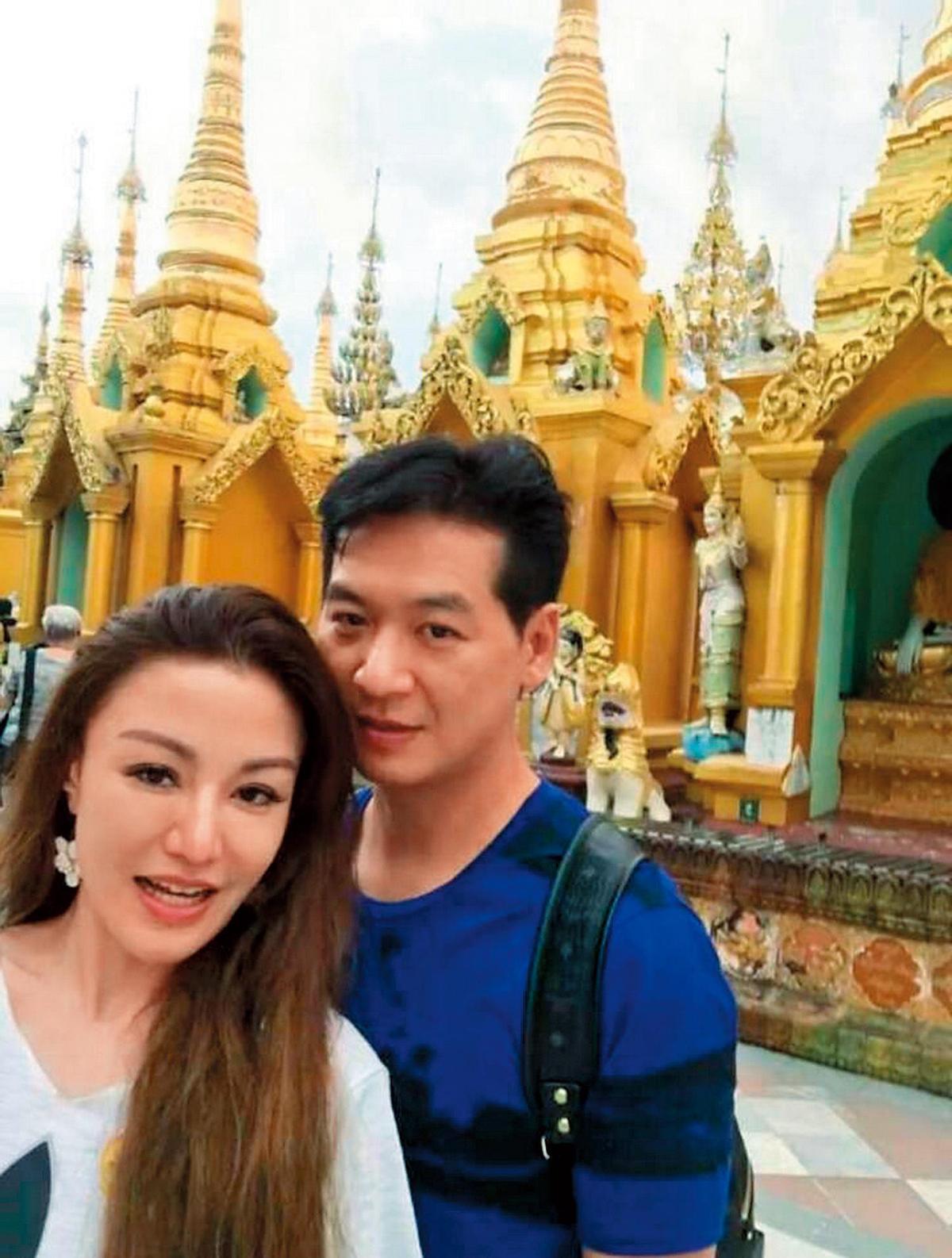 李珍妮與陳友亮情正濃時,曾在臉書po出兩人同遊緬甸的照片。(翻攝自李珍妮臉書)