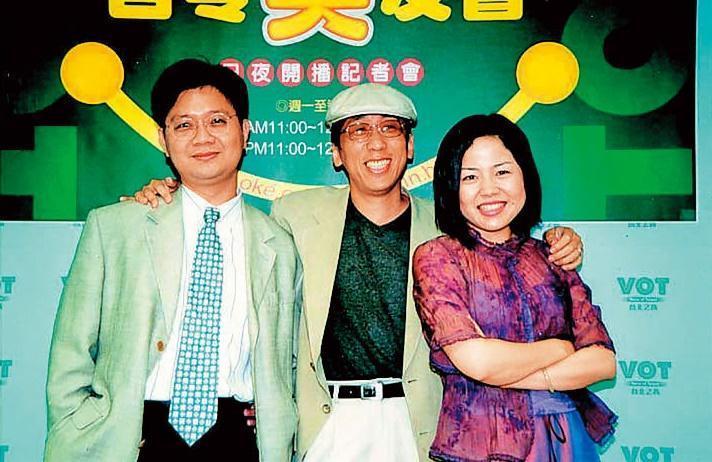 苦苓(中)是90年代暢銷作家,轉戰電視圈成績斐然,年收千萬元,左為侯文詠,右是于美人。(聯合知識庫)