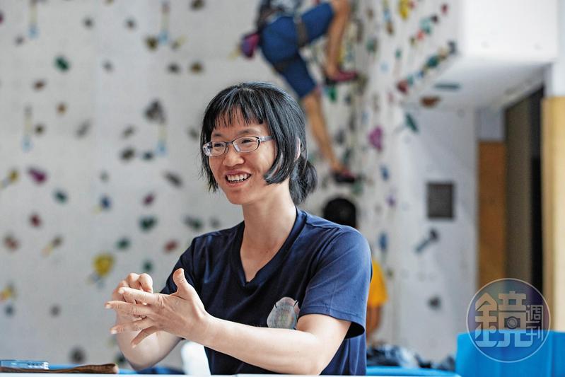 陳雅得天生懼高,到了3公尺以上就會害怕。她說:「我不怕的方法就是專心。」因此會在地面設定好明確的目標、技術或路線。