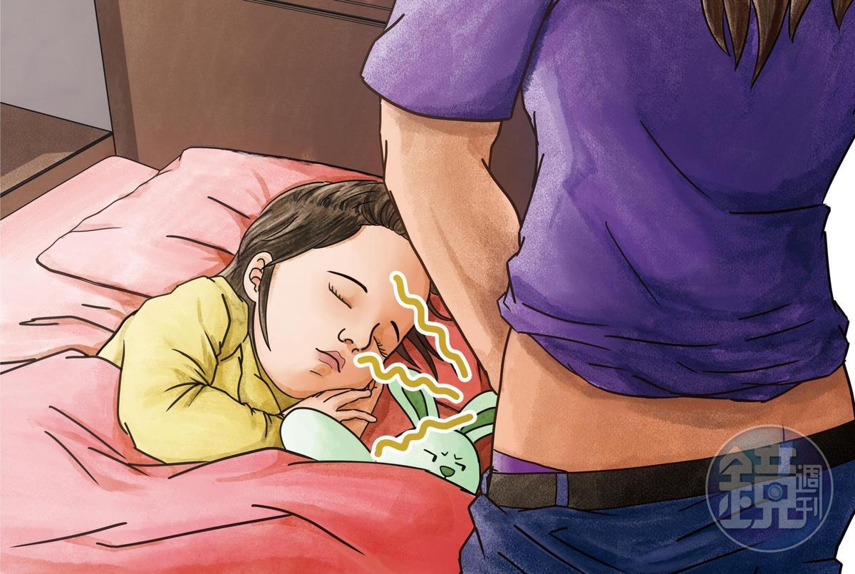 接受變性手術的父親,半夜趁孩子睡覺時,將下體靠近孩子臉旁,強逼孩子聞他體味。
