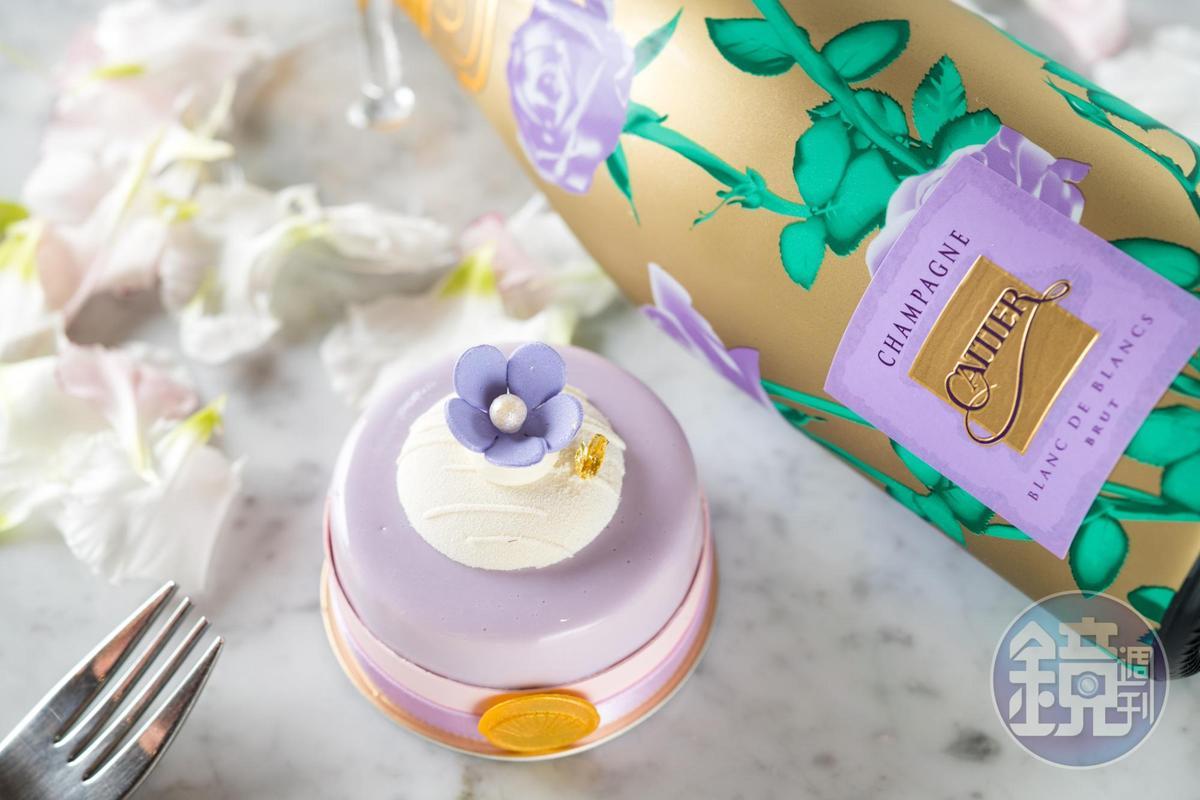 蛋糕「花漾」揉合熱帶水果味和纖細的茶味,每一口細節都充滿台灣物產的芳香。(250元/份)
