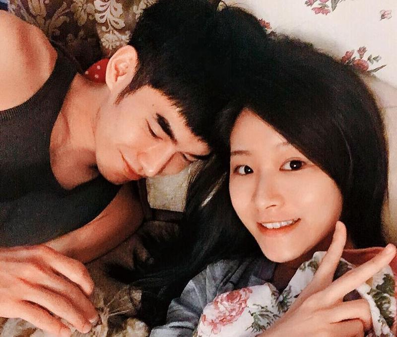 本刊獨家披露張書豪(左)圈外女友長相,她名叫陳璇(右),據悉,陳璇也是「被分手」。