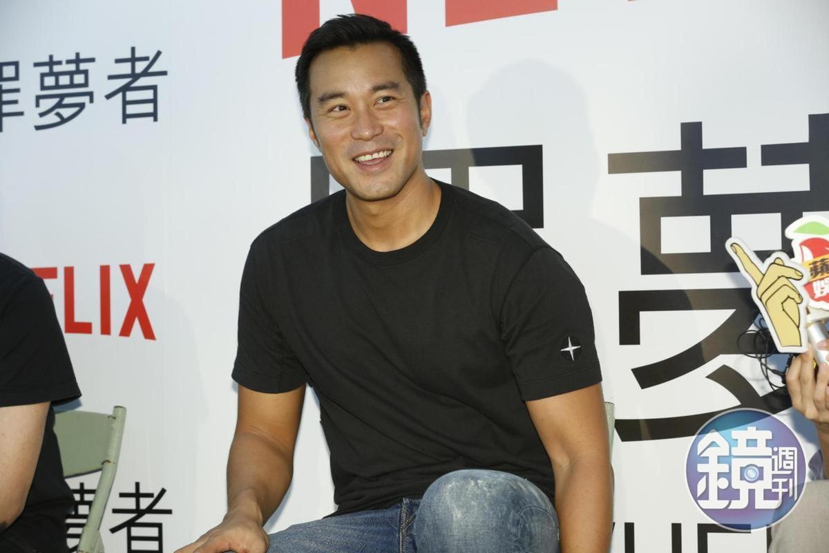 去年張孝全接拍Netflix劇集《罪夢者》,年底都留在台灣拍片,也剛好可以方便照顧待產的老婆。
