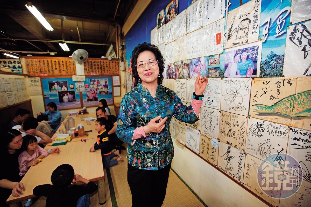 不少名人曾光臨「燕食堂」,張陳雪貞悉心珍藏名人食客簽名,成另類宣傳。