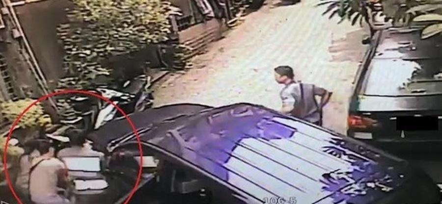 警方在汐止逮捕戴姓嫌犯。(警方提供)