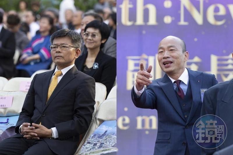 針對日前說出支持韓國瑜選總統等同「詐騙共犯」,楊秋興今(16日)以自己用詞過重表達歉意。(合成照)