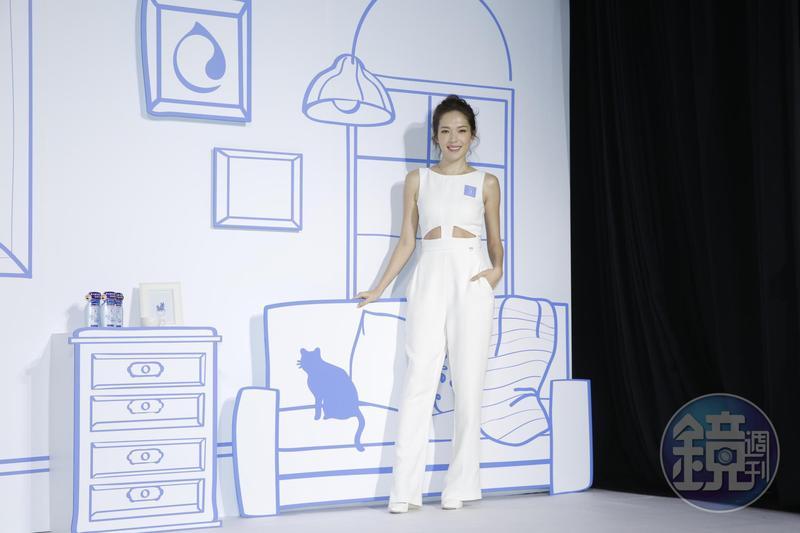 許瑋甯在「按讚事件」後首度面對台灣媒體。