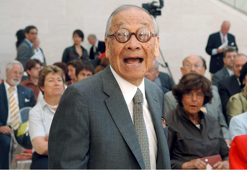 2006年7月3日,華裔美籍建築家貝聿銘面露微笑,在盧森堡新建的現代藝術博物館接受埃文衛克德基金會頒贈的「東方與西方獎」。(東方IC)