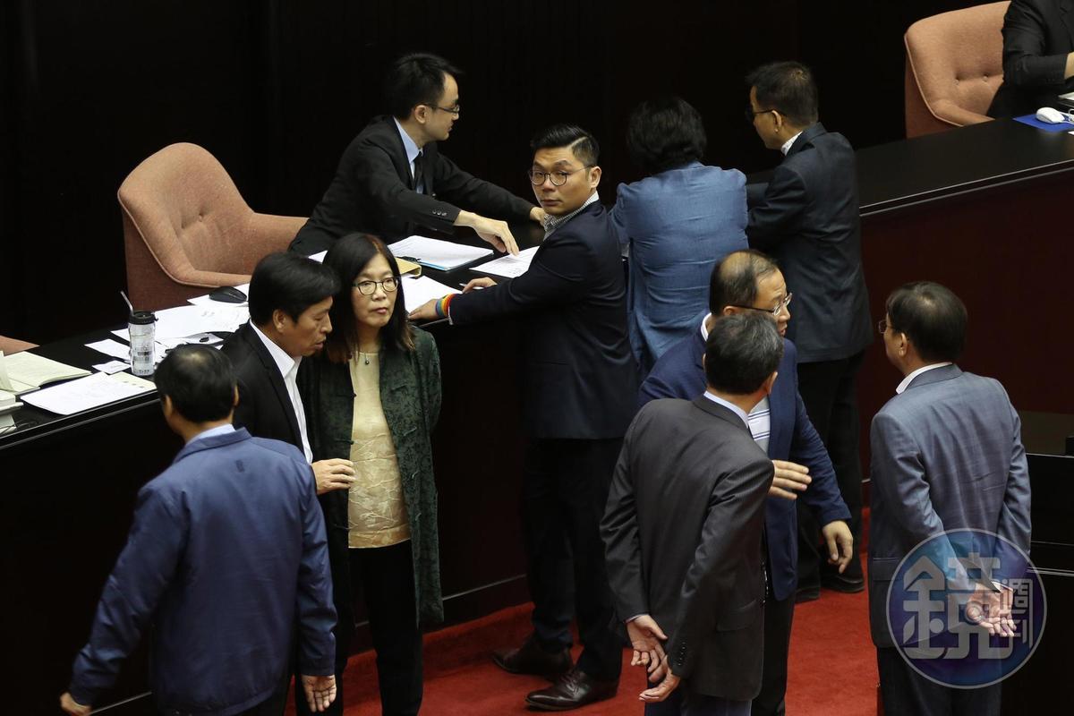 國民黨立委許毓仁在名稱表決時,投下同意票。