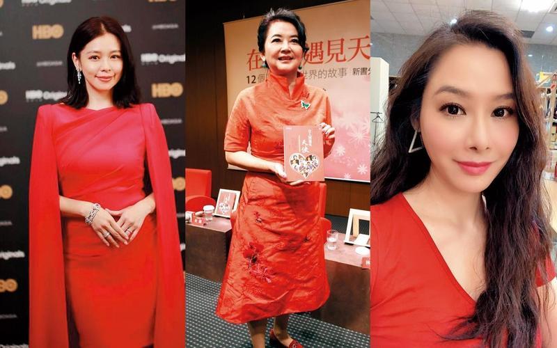 徐若瑄(左起,翻攝徐若瑄臉書)、胡慧中(東方IC)和陳柏渝(翻攝陳柏渝臉書)都曾風光出嫁。