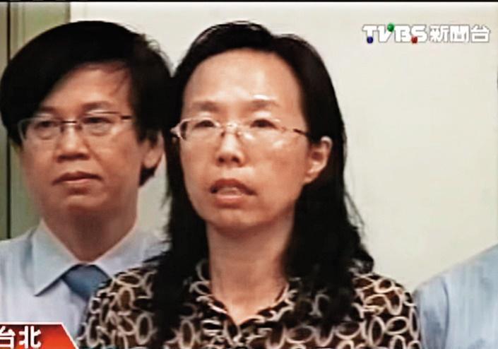 檢察官越方如在聲押前總統陳水扁涉國務機要費案時,曾在法院內被前來聲援的民代恐嚇。(翻攝TVBS)
