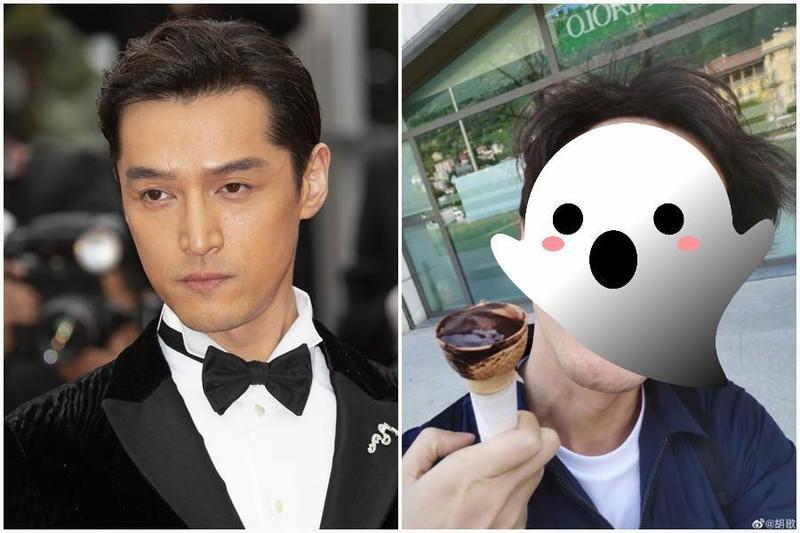 中國大陸男演員胡歌微博上發了一張照片,把不少人嚇傻了。(東方IC/翻攝自胡歌微博)
