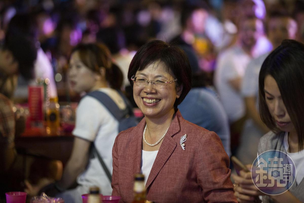推動同婚法案的民進黨立委尤美女也親臨現場。
