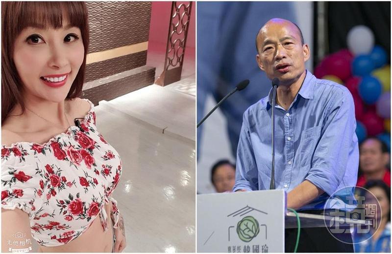 名嘴許聖梅日前開直播哭訴因為挺韓丟工作,韓國瑜關心「要不要幫忙找工作」。(左圖取自許聖梅臉書)