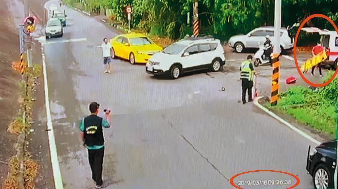 ↑事故發生後,救護車相隔27分鐘才到現場。(家屬提供)