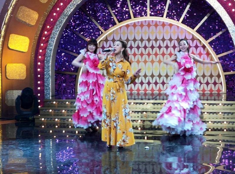 楊繡惠上年代《MUCH金點秀》爆料主持婚禮遇「豔舞」表演,差點被警察抓走。(年代提供)