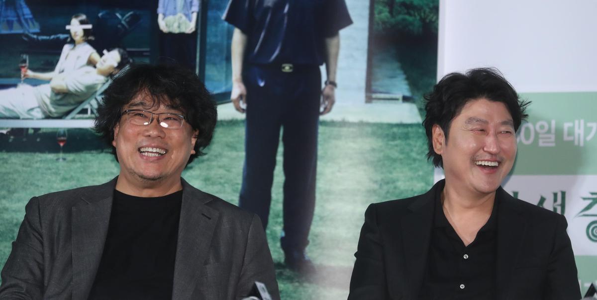 宋康昊稱讚《寄生上流》的演員與工作人員都很好相處,是愉快的拍戲經驗。(東方IC)