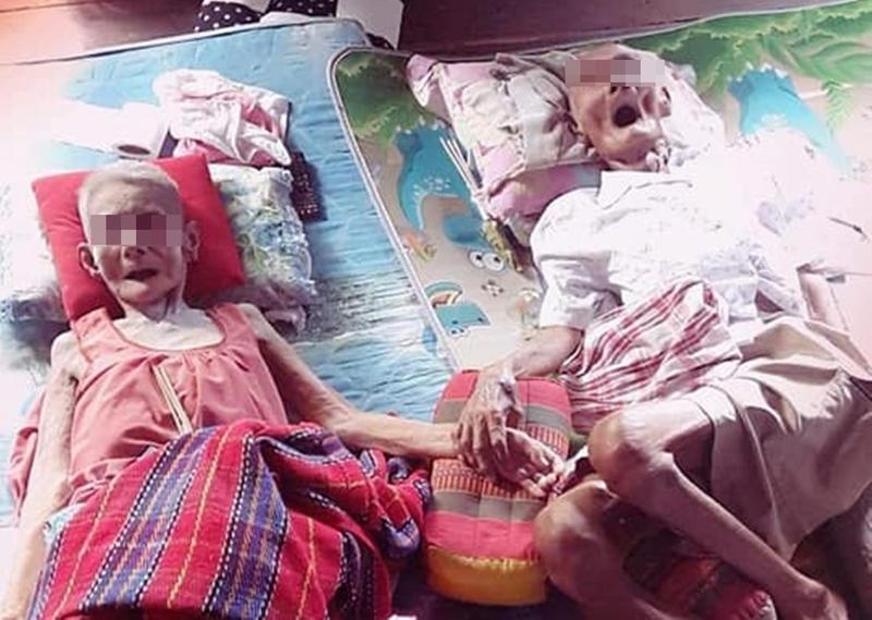 老夫妻相愛68年,在家中牽手相繼過世。(翻攝自Apirat Muntam臉書)
