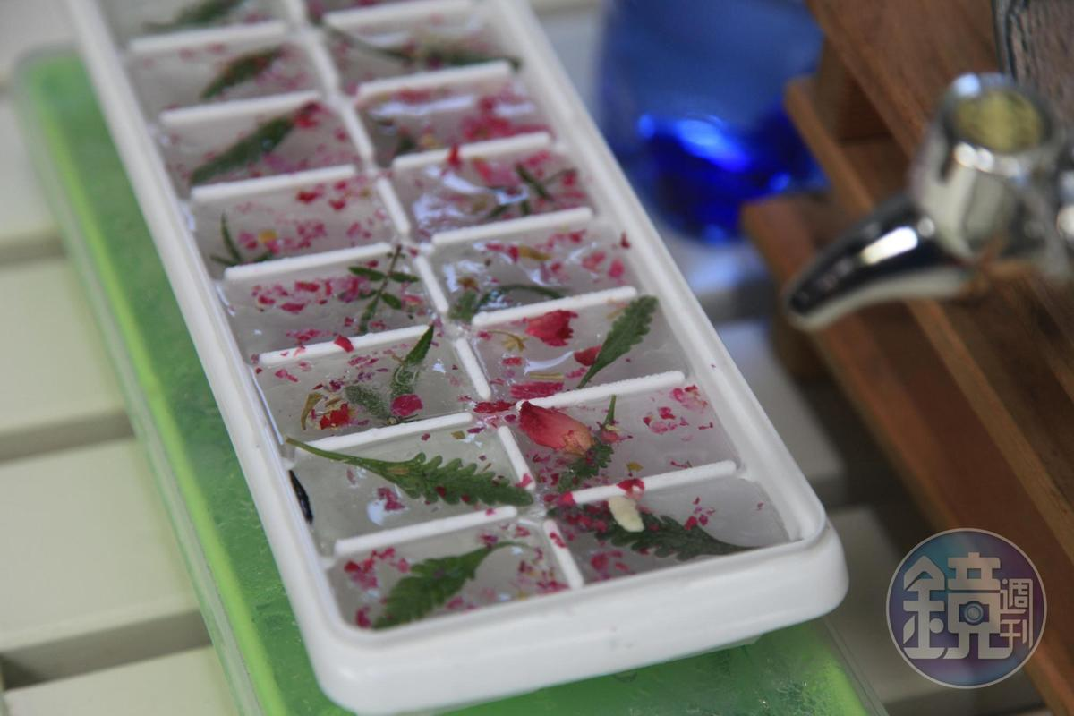 加入香草的冰塊,有香氣也有美感。
