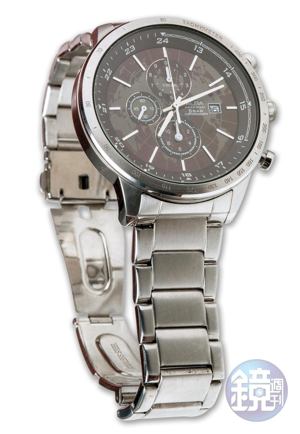 粉絲送的ALBA手錶。約NT$5,000
