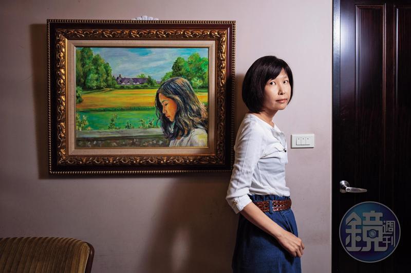 30歲遠赴英國留學,畫家朋友將幸佳慧遊歷莊園的照片,繪製成油畫。