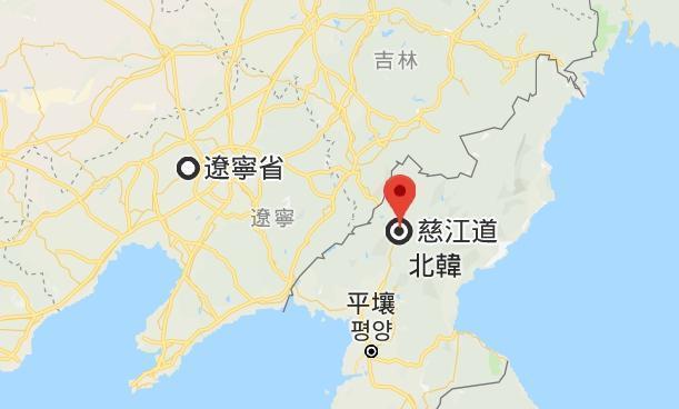 北韓爆出首起非洲豬瘟案例的養豬場位於慈江道,鄰近中國爆發非洲豬瘟首例的遼寧省。(翻攝自Google Map)