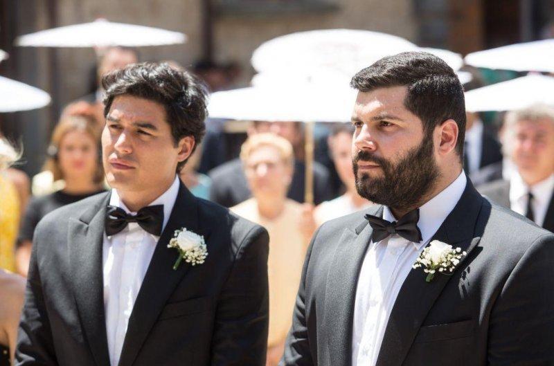 安東尼奧與保羅回到義大利老家舉辦婚禮。(東昊影業提供)