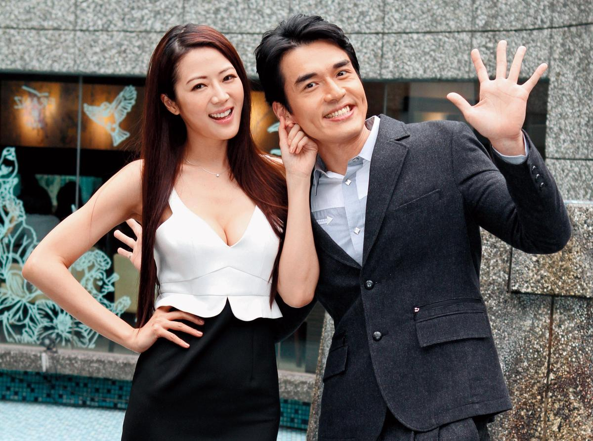 張熙恩(左)在《神仙‧老師‧狗》中飾演火辣女教師,和楊一展(右)有不少對手戲。(東方IC)