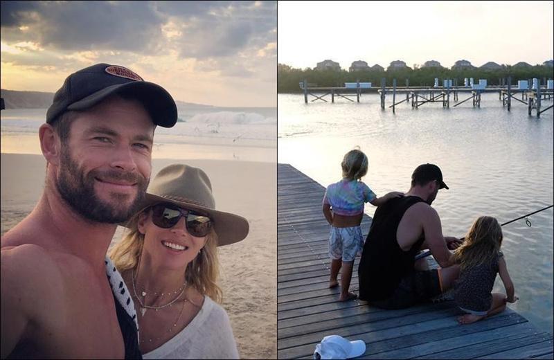 雷神索爾為了陪伴老婆和孩子,宣布今年不再參與任何拍攝活動。(翻攝自chrishemsworth Instagram)