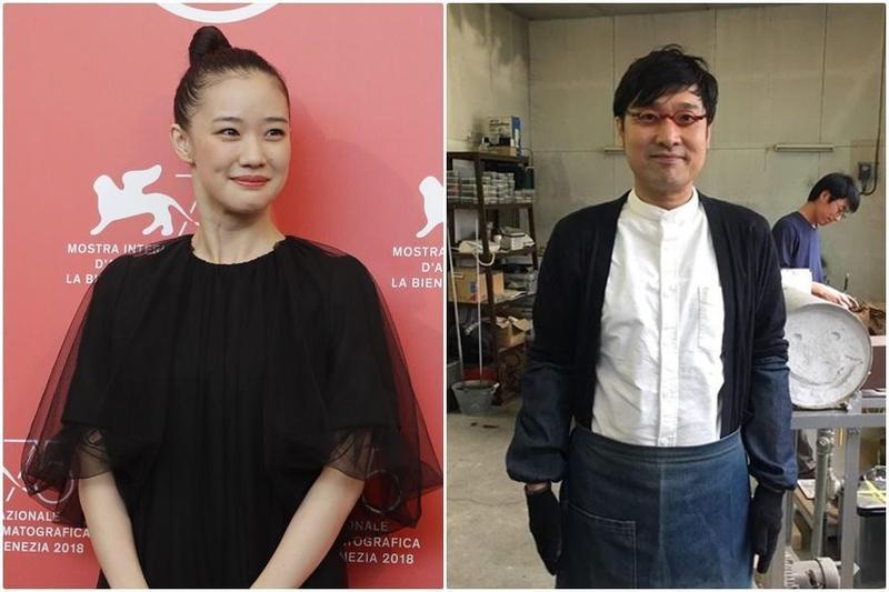 日本女星蒼井優和祕密交往兩個月的諧星山里亮太宣布結婚。(東方IC、翻攝山里亮太Instagram)